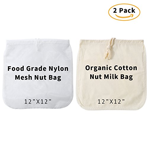 2 Pack Nut Milk Bags | Commercial Grade Big 12