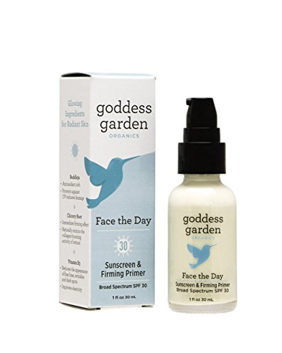 Goddess Garden Organics Face the Day Sunscreen and Firming Primer, 1 oz.