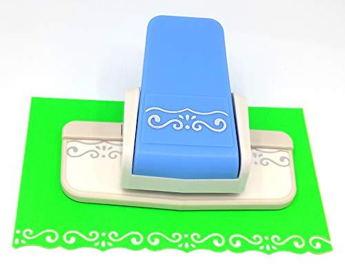 Kucaa Handmade Scrapbooking Edge Puncher Fancy Border Punch S Heart Dolphin Design DIY Paper Cutter (S-Shape)
