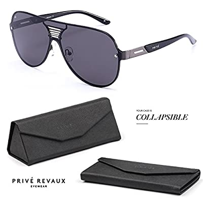 "PRIVE REVAUX ""The Hitman"" Handcrafted Designer Double-Bridge Retro Sunglasses"