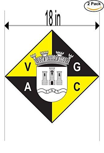fan products of Vasco da Gama AC Sines Portugal Soccer Football Club FC 2 Stickers Car Bumper Window Sticker Decal Huge 18 inches