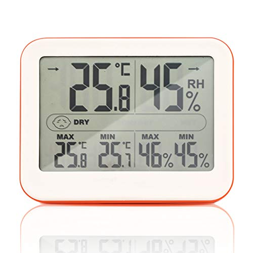 Circrane Digital Hygrometer and Humidity Gauge Indicator Humidity Monitor with Indoor Backlight Thermometer Room Temperature Monitor