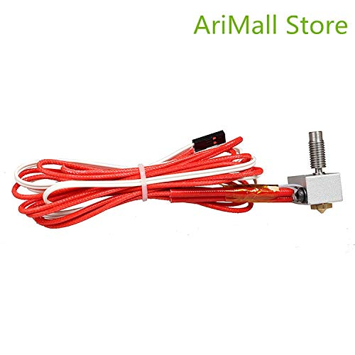 Jillier 3D Printer Parts hotend+Throat+Nozzle+Thermistor+Heater Tube V6 Hotend Kit 0.4/1.75MM J-Head Remote extruder