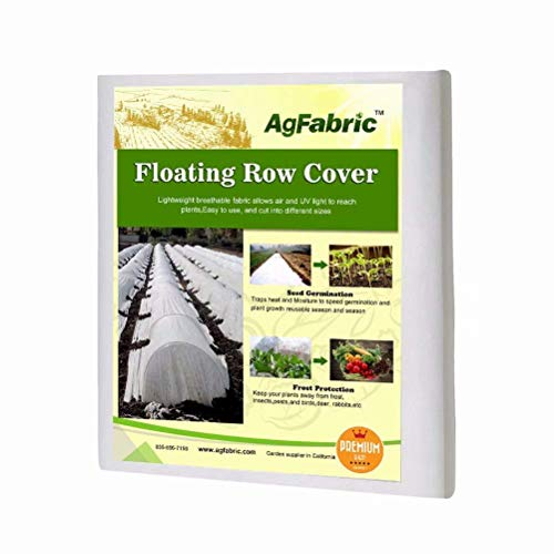 Agfabric Warm Worth Advanced-Heavy Floating Row Cover & Plant Blanket, 1.2oz Fabric of 10x50ft for Frost Protection, Harsh Weather Resistance& Seed Germination