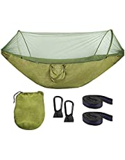 ValueHall Hammock Camping Hammock Double Single Ultralight Camping Hammock Set with Mosquito Net and Tree Straps for Camping Hiking Garden Travel V7079A