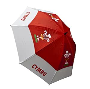Wales Rugby Union Wales Rugby - Paraguas de golf y rugby, color rojo / blanco