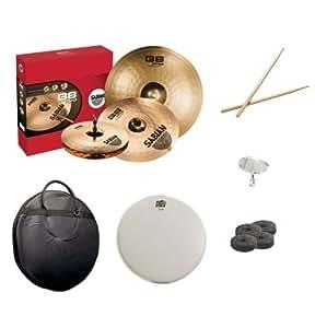 sabian b8 pro performance set pack with cymbal bag snare head drumsticks drum key. Black Bedroom Furniture Sets. Home Design Ideas