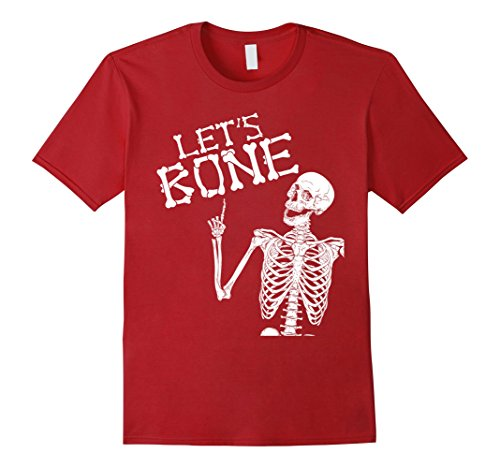Costumes Skeleton Boner (Mens Let's Bone Skeleton Funny Halloween Costume Shirt For Adults Medium)