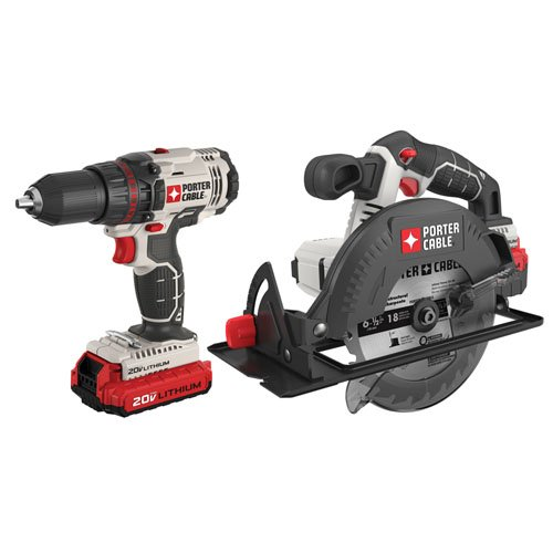 - PORTER-CABLE PCCK605L2 20V Max Lithium Ion 2-Tool Combo Kit