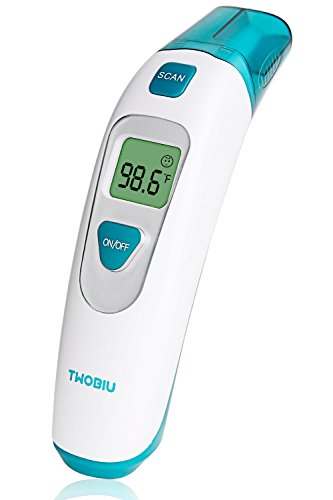 TWOBIU Medical Forehead and Ear Thermometer- Instant Read Baby Thermometer, FDA Approved Digital Infrared Thermometer for Baby and Adults by TWOBIU