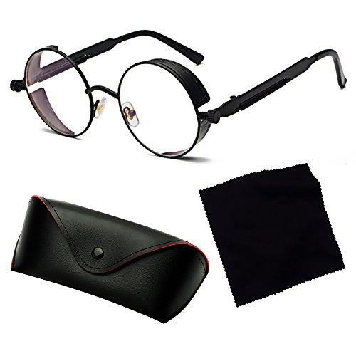 C4 STEAMPUNK redondas Juleya sol Retro Vintage Mujer Hombre Gothic de Classic UV400 Gafas Gafas de sol wZIZqCAx8