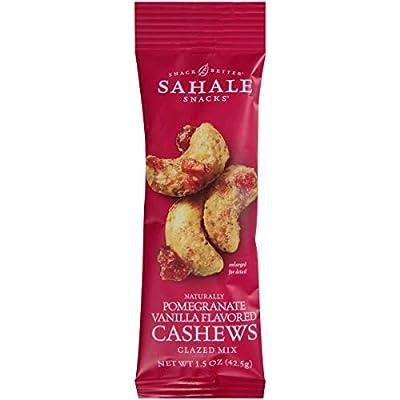 Sahale Snacks Cashews with Pomegranate Plus Vanilla Glazed Nuts, 1.5 Ounce -- 18 per case