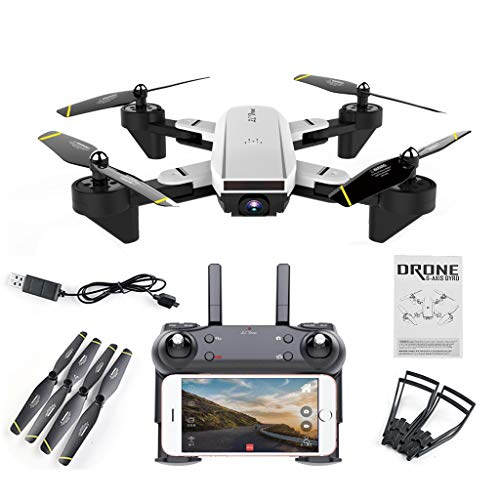 SG700 FPV RC Qudacopter with 0.3MP 2MP Wide Angle Optical Follow Mode Camera Foldable Selfie Drone Altitude Hold Headless Helicopter by Aiyouxi ... (Standard Version(No Camera))