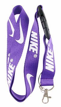 Nike Purple Lanyard Keychain Holder with Snap Buckle