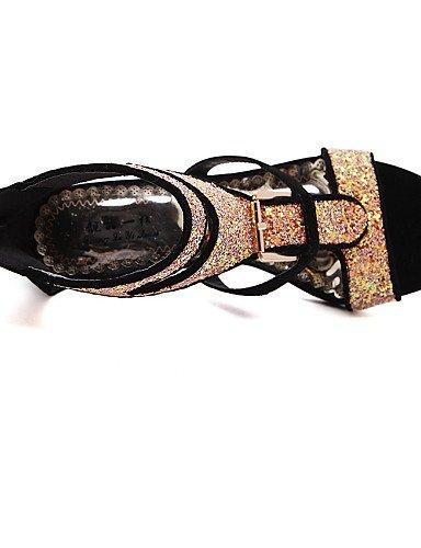 LFNLYX Zapatos de mujer-Tacón Stiletto-Tacones / Punta Abierta / Comfort / Innovador / Punta Redonda / Botas a la Moda / Zapatos y Bolsos a Juego Black
