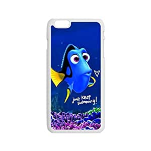 Turtle Rock blue lovely fish Cell Phone Case for Iphone 6