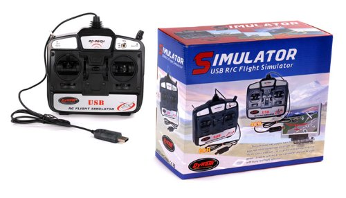 New RC Tech 6 CH Flight Simulator Remote Control w/ Software for Helicopters/ (New 1gb Pc)