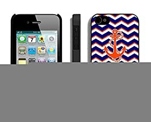 New Case For Samsung Galaxy S5 Cover Durable Soft Silicone PC Chevron Pattern Blue With Anchor Coolest Design Black Cell Phone Accessories for Samsung Galaxy S5