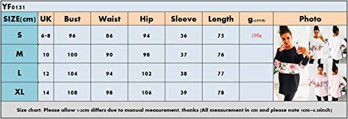 T Sweat Col Fashion Confort Rose Imprime Shirts Shirts Jumpers Printemps Longues pissure Tees Femmes Automne Hauts Rond Pulls et Tops Casual Long Blouse Manches Tunique YXSA1xPq