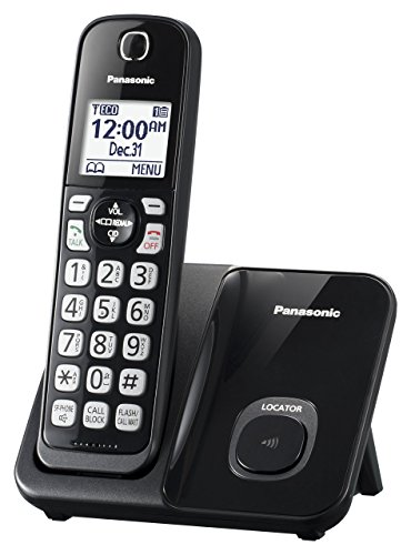 Panasonic KX-TGD510B Expandable Cordless Phone with Call Block - 1 Handset (Renewed)