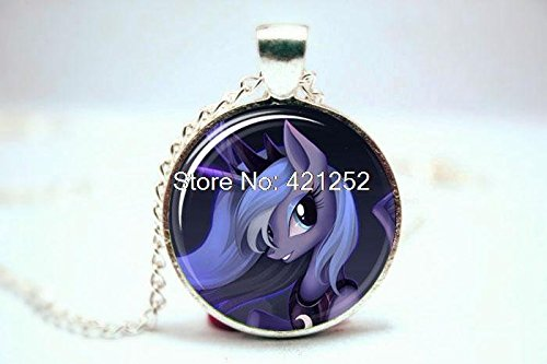 Pretty Lee 2015 Fashion Princess Luna My Little Necklace Glass Photo Cabochon Necklace Christmas gift
