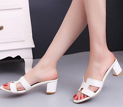 Y Con Zapatos Crudo White Sandalias Deslizadores Verano Los En Mujeres Del Ocasionales Ms rrTnfvqBw