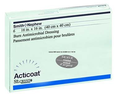 Acticoat Burn Dressing - 4 x 4'' - Each Sheet