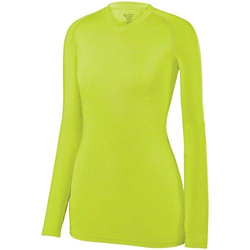 Womens Dazzle Softball Shorts - Augusta Sports Girls Maven Jersey, Lime, Large