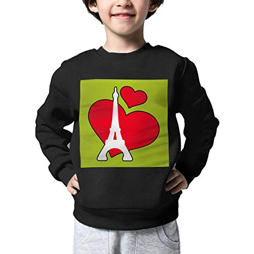 (Children's Paris Heart Eiffel Tower Sweater Baby Girls Printed Sweater)