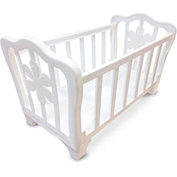 Amazon Com Generic Msl Plastic Kid S Toy Doll Crib White Finish