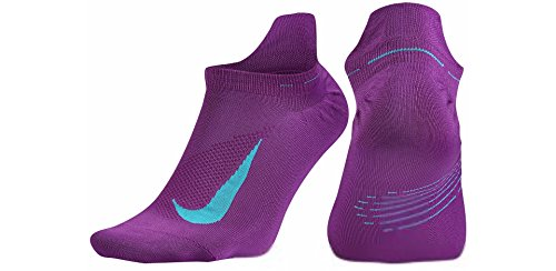 Nike Men's U Nk Elt Ltwt Ns Socks Morado (Cosmic Purple / Omega Blue / Omega Blue) F7URAc