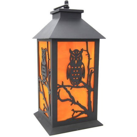Indoor Halloween Decoration Holographic LED Lantern, Owl Halloween
