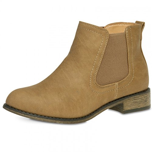 Sand;Shoe SBO025 EU40 US9 Chelsea Size UK7 Colour CASPAR Women Boots qF6wnHxx4