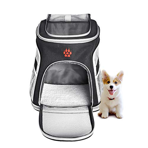 Cheap Gecoun Pet Carrier for Cats Small Dogs Airline Approved Pet Carrier Backpack Comfortable Safe Dog Carrier Bag with Cushion Back Support for Hiking Outdoor Use
