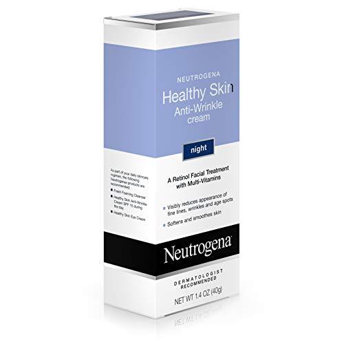 41U0BJo0aIL - Neutrogena Healthy Skin Anti Wrinkle Retinol Cream with Vitamin E and Vitamin B5 - Night Moisturizer with Retinol, Vitamin E, Vitamin B5, Glycerin, 1.4 oz