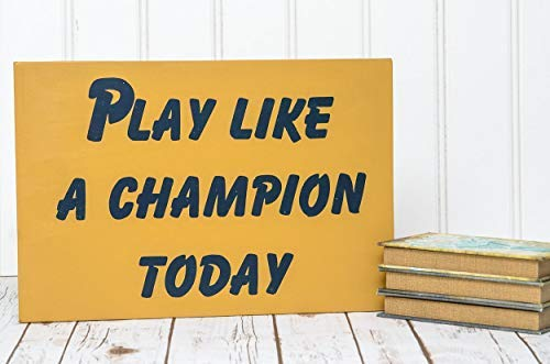 Home Plaque Sign Notre Dame Notre Dame Sign Play Like A Champion Notre Dame Football Sign Play Like A Champion Sign Notre Dame Decor Man Cave Wooden Sign