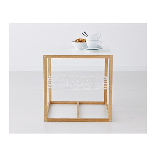 Ikea Ps 2012 Side Table White Bamboo 48x48 Cm Amazoncouk