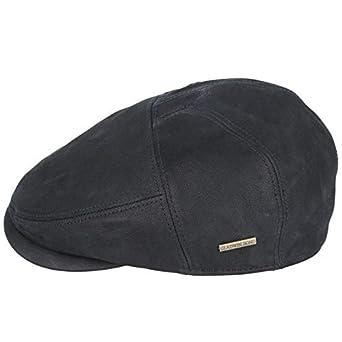 Gladwin Bonds Hatters London - Gorra (Piel), Color Negro Marrón ...