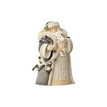 Foundations Woodland Santa with Bird Stone Resin Figurine, 7.7