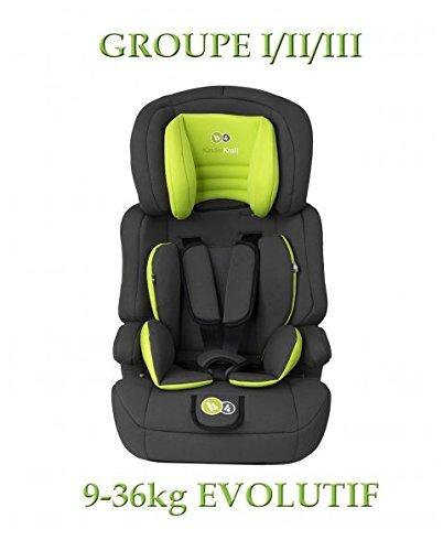 KinderKraft KKCMFRTUPLIM00 Comfort UP Kinderautositz - Gruppe 1 - 3,  9 - 36 kg, grün