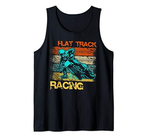 (Vintage Flat Track Motorcycle Racing Speedway  Tank Top)