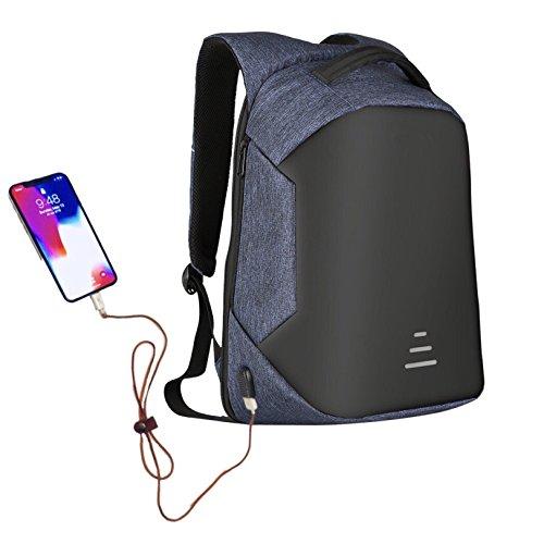 (Wonder Anti Theft Slim Laptop knapsack, Useful Headphone & USB Charging Port, Convenient softback for Comfortable Travel. Unisex, Waterproof & Rainproof Backpack, fits 15.6 inch Laptop)