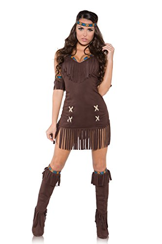 Underwraps Women's Raven, Brown, (Sacajawea Costumes)