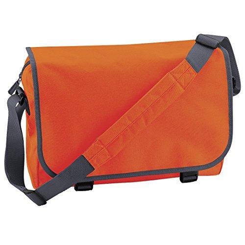Bagbase Adjustable Messenger Bag (11 Liters) (One Size) (Orange/Graphite Grey) ()
