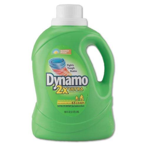 Dynamo Dynamo Ultra Liquid Laundry Detergent, Sunshine Fresh, 100 oz Bottle - four bottles.