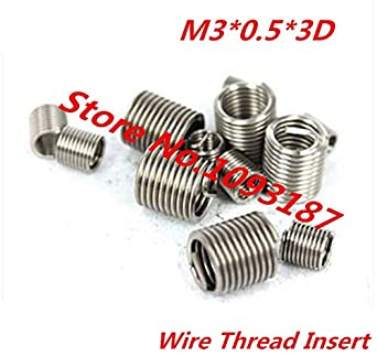 M3 Screw Bushing//Wire Screw Sleeve//Thread Repair Ochoos 100pcs M30.53D Stainless Steel A2 Wire Thread Insert