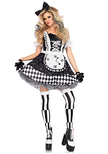 Leg Avenue Women's Costume, Black/White, Large
