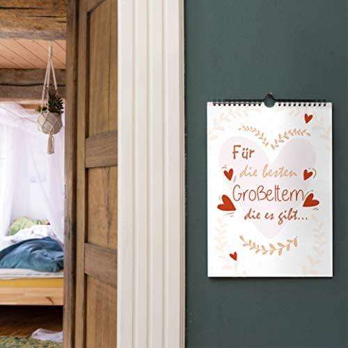 OfficeTree 3 Bastelkalender zum Selbstgestalten im Familien Design – Kalender DIY in Din A4 – Immerwährender Kalender zum Selbstgestalten – Blanko Kalender zum Aufhängen