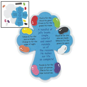 Jelly Bean Prayer Magnets Craft Kit - Religious Crafts & Crafts for Kids (Jelly Crafts Bean)