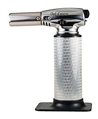 CULINARY TORCH - Best Kitchen Cooking Torch - Food Torch - Chef Torch For Creme Brulee Dessert - Hand Blow Torch To Sear Melt Caramelize Dining Recipes - BBQ Flame Lighter - Refillable Butane Gas … from Keen Smart